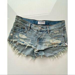 One Teaspoon Bonitas Cutoff Denim Jean Shorts 25
